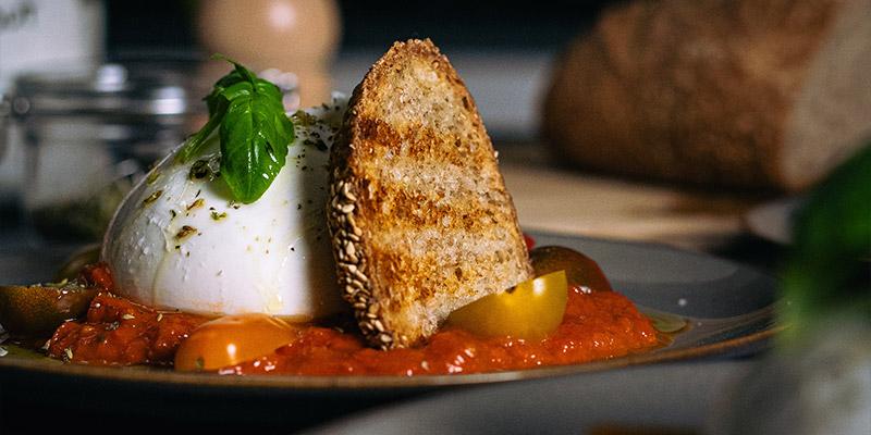 Bijzondere burrata Food fotografie