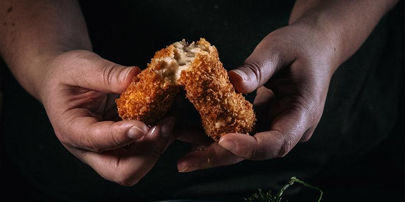 Goddelijke garnaalkroketten Food Fotografie Garnaalkroketten