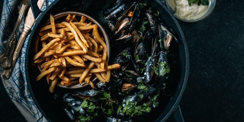Mosselen met look food fotografie Op Mijn Talloor