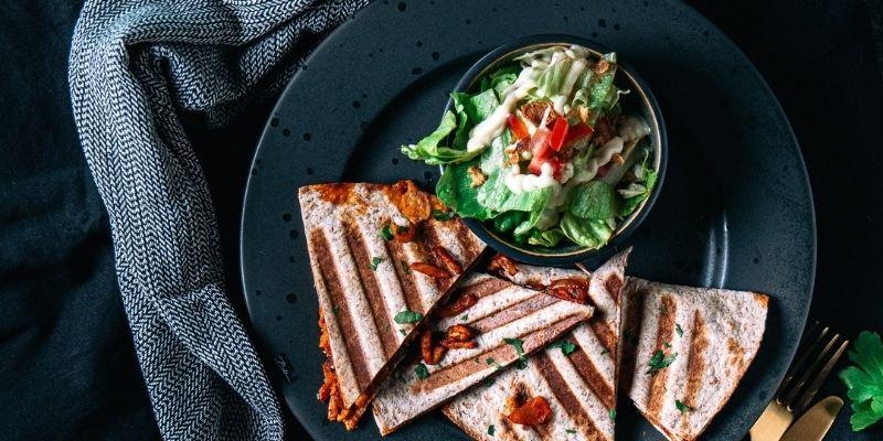 Quesadilla food fotografie Op Mijn Talloor