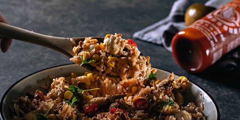 Rijstsalade food fotografie op mijn talloor