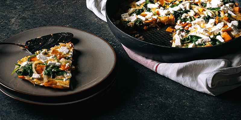 zoete aardappeltortilla food fotografie op mijn talloor