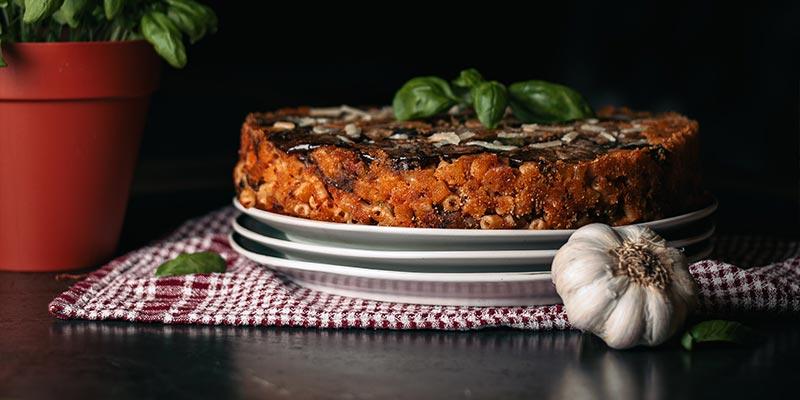 Siciliaanse Timballo food fotografie op mijn talloor