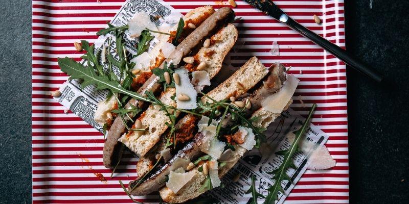Italiaanse Hotdog Food Fotografie Op Mijn Talloor