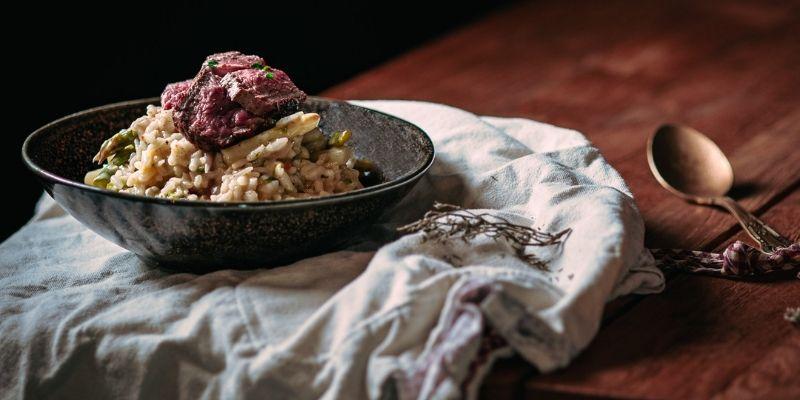 Risotto met lamsvlees Food Fotografie Op Mijn Talloor