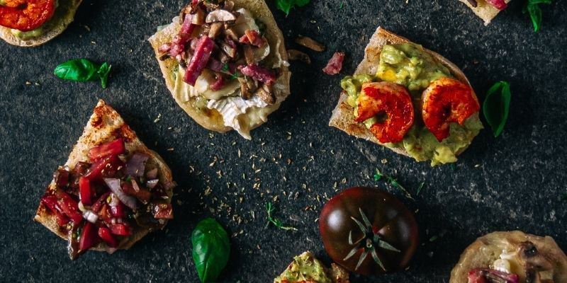 Bruschetta Food Fotografie Op Mijn Talloor