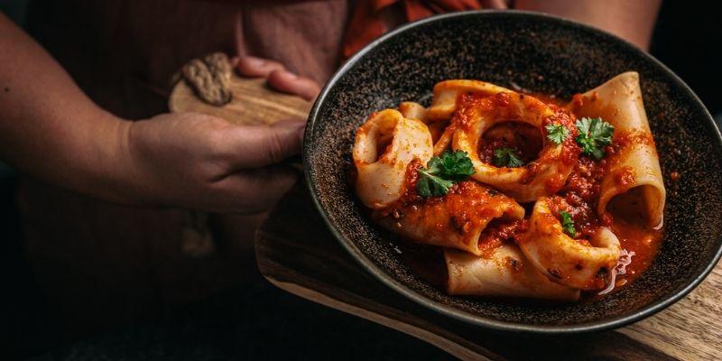 Calamari Op Mijn Talloor Food Fotografie